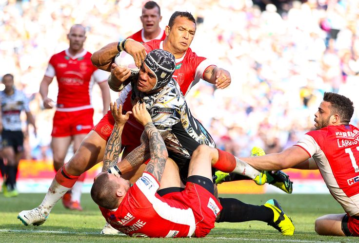 This try was voted the best of the season against Hull KR at Magic when the big fella Feka dragged the Rovers players with him over the line!