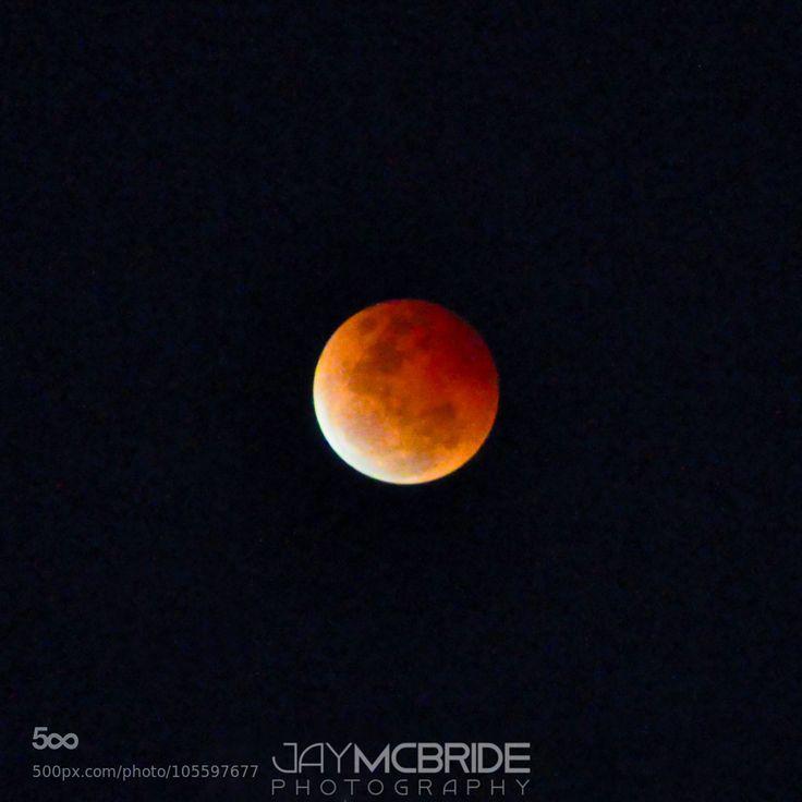 Blood moon by http://jaymcbride.photos  #bloodmoon #moon #blood #red #dark #night #space #night #nighttime #round #stars #planets #red #planet #orange #nasa #galaxy #unknown