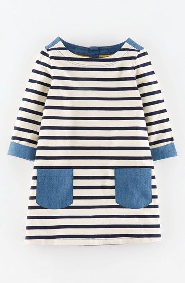 Mini Boden Mixed Media Tunic (Toddler Girls, Little Girls & Big Girls) available at #Nordstrom