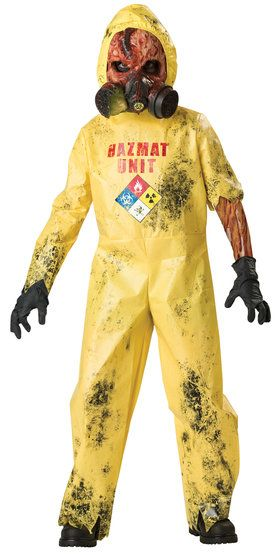 Try not to scream when this scary Hazmat Hazard #zombie rings your doorbell! #mrcostumes