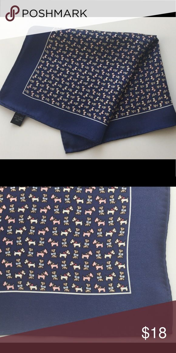 """Brand new navy silk pocket square 🐶🐶🐶 New without tags. 100% silk. Size 15"""" 15"""" Accessories Pocket Squares"""