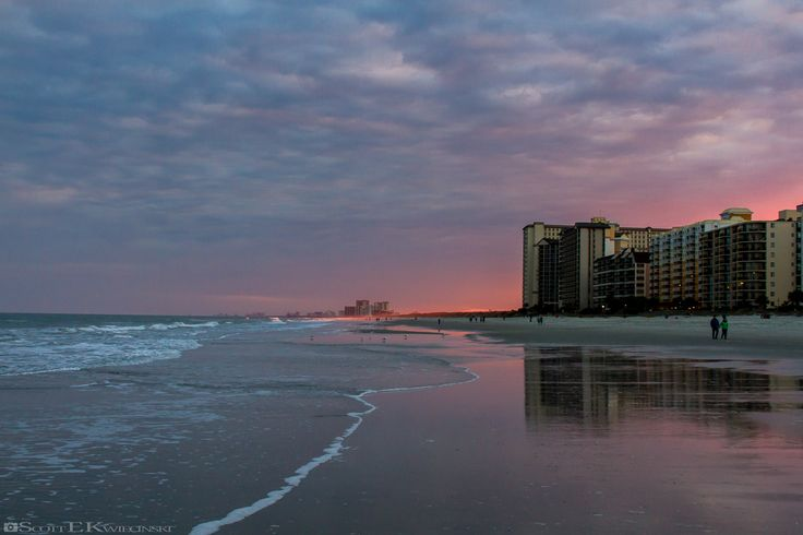 Sunset Obstructed By North Myrtle Beach Hotels  #Sunset #MyrtleBeach #NorthMyrtleBeach #CherryGrove #Beach #Ocean #Wave #Waves #Hotel #Hotels #Vacation #SouthCarolina #Color #Colors #Red #Orange #Pink #Blue #Purple #Cloud #Clouds #Overcast #Glow #Photo #PhotoOfTheDay #POTD #Photography #Photographer #Canon #CanonPhotographer