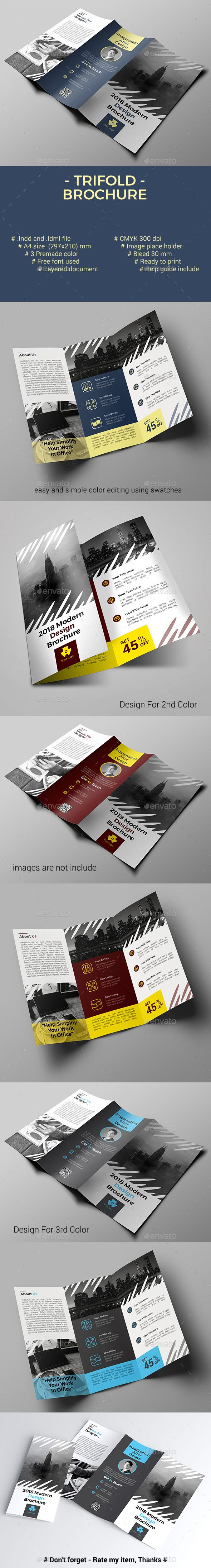 Trifold Brochure #pro #financial  • Download here → https://graphicriver.net/item/trifold-brochure/21203633?ref=pxcr
