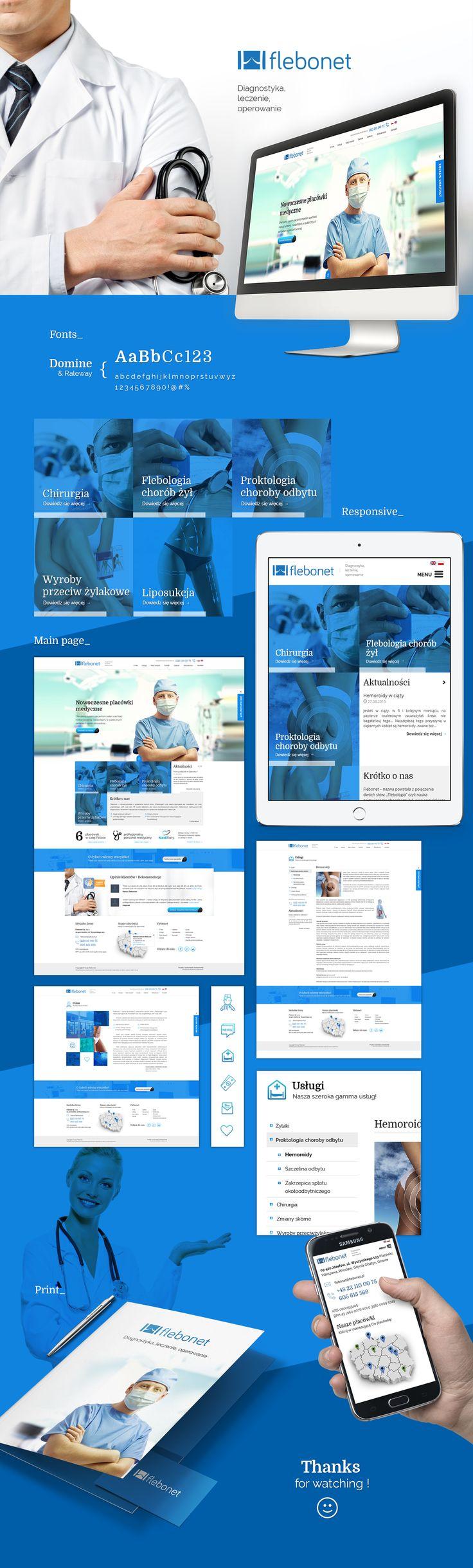 Flebonet - Medic centrum on Behance