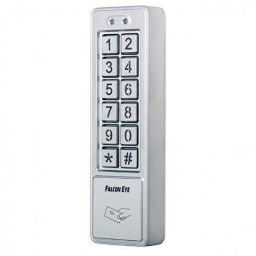 Считыватель Falcon Eye FE-code FE-code Накладная электронная кодовая панель Falcon Eye FE-code на дверь, выполненная в изящном корпусе из высокопрочного сплава, отличное решение для установки в офисные и производственные помещения. Встроенный считыватель позволяет открывать дверь с помощью карт стандарта EM-Marine. Возможность подключения внешний кнопки открытия замка. Достоинства Установленный контрольный таймер обеспечивает постоянное тестирование системы на работоспособность, производя…