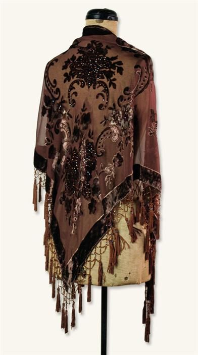 SILK BROCADE SHAWL Today's Crush du Jour! Love sheer shawls!