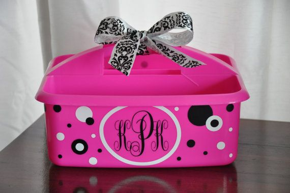 Personalized Caddy/ Shower Caddy/ Dorm Room/ by MakeitMyDesign, $18.00
