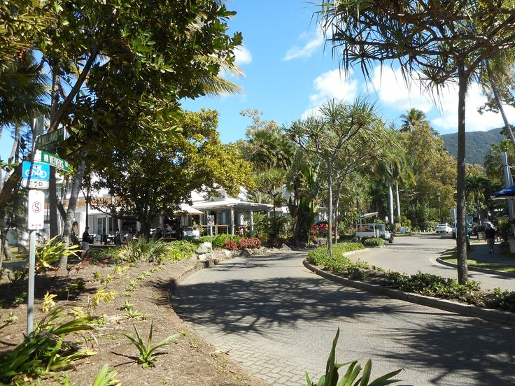 Streetscaping with lots of trees in Palm Cove. Lovely ambience, especially on a warm day!