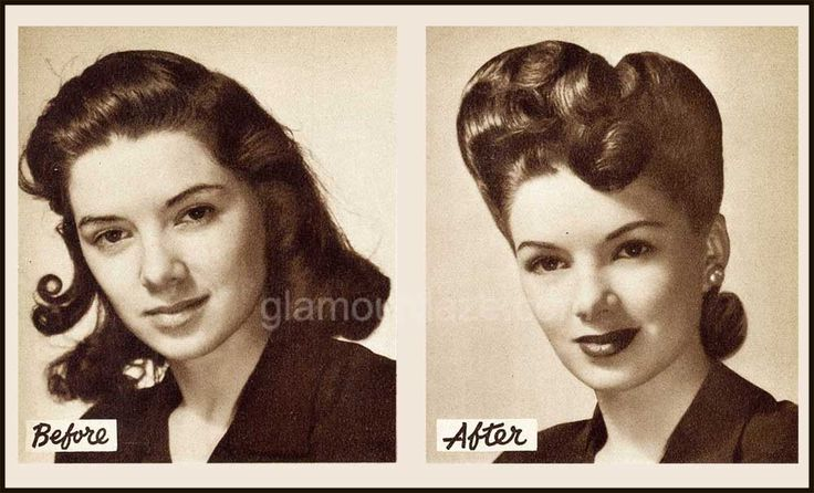 1940s-Hollywood-Makeover---before-and-after. Tutorial included!
