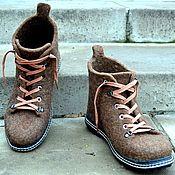 """Обувь ручной работы. Ярмарка Мастеров - ручная работа Ботинки валяные мужские """"Mr. Brown"""". Handmade."""