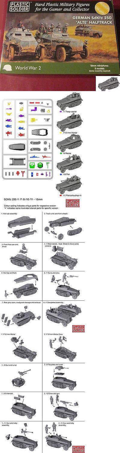 15mm 158728: Plastic Soldier Company Ww2v15028 15Mm Wwii German Sdkfz 250 Alte Halftrack -> BUY IT NOW ONLY: $30.83 on eBay!