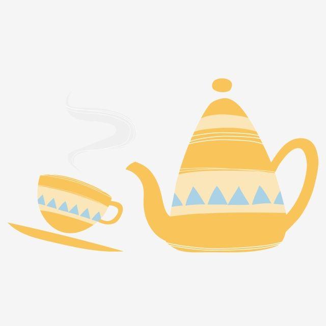 إبريق الشاي زخرفة فنجان زخرفة ابريق الشاي ثقافة الشاي فنجان إبريق كوب شاي Png والمتجهات للتحميل مجانا Teapot Decorations Tea Culture Tea Pots