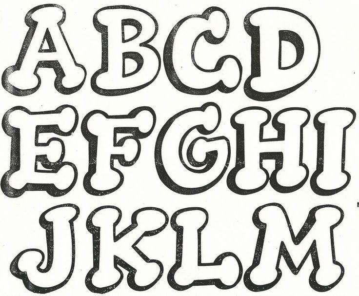 Letras Mayúsculas 1 | Moldes de Letras | Pinterest