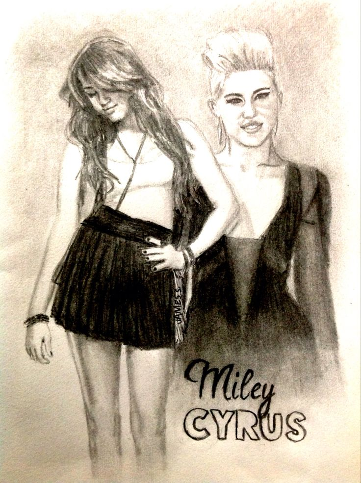 Celebrity Sketch of Miley Cyrus