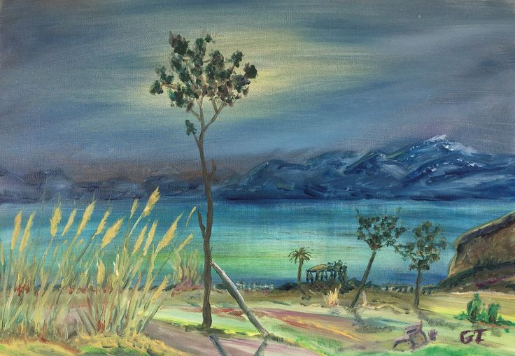 Destekle, 35x50, oil&canvas, #gurseltokmakoglu #artist #artworks #sanat #art #paint #tablo #yağlıboya #oiloncanvas #paintings  #finearts #original #oilpaintings #paintworks #landscape #plain #seascape #sea #antalya #duden #akdeniz #park #kemer