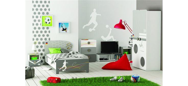Dětský pokoj pro kluka s motivem fotbalu