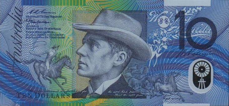 "Bankjegy: 10 Dollars (Ausztrália) (1992-1999 ""Polymer - Without Printed Names Below Portraits"" ) Wor:P-52b.2"