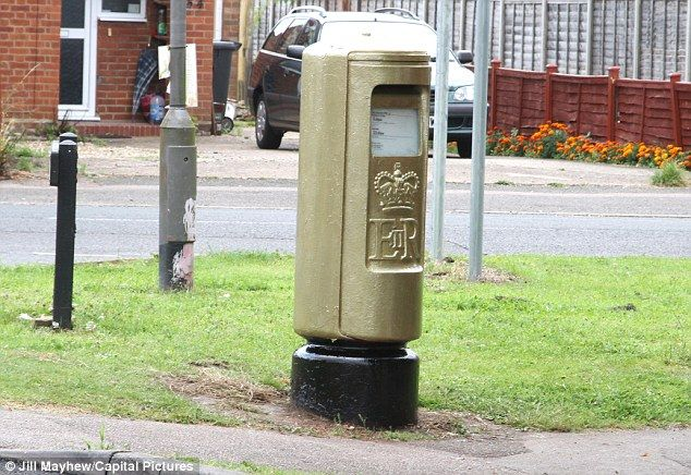 Repackaging the post box. Every time a British athlete wins a gold medal in the Olympics or Paralympics, Royal Mail is painting a post box gold in their home town to celebrate.   It is the first time since 1874 that the Royal Mail has changed its iconic red post boxes.