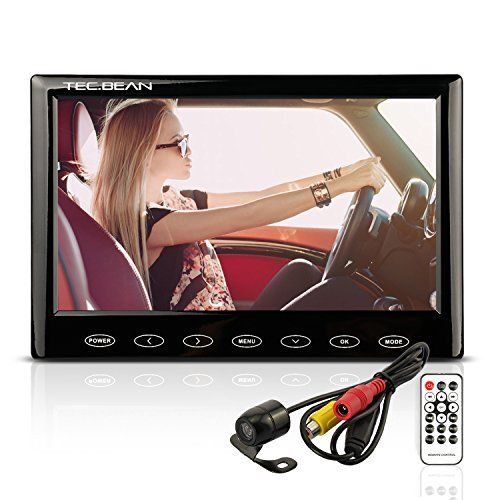 TEC.BEAN Caméra de Recul 7″ Moniteur LCD TFT Système de étanche Caméra Vue Arrière de Voiture et Vision de Nuit, Fonction MP5, Port USB,…