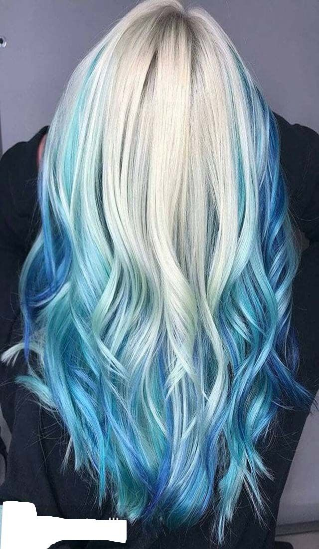 Trendy White And Blue Hair Color Ideas Hairminia Blonde And Blue Hair Ice Blue Hair Blue Hair