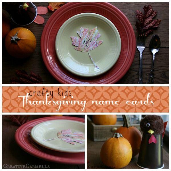 Thanksgiving Name Card, DIY Kids Craft (she: Carmella)