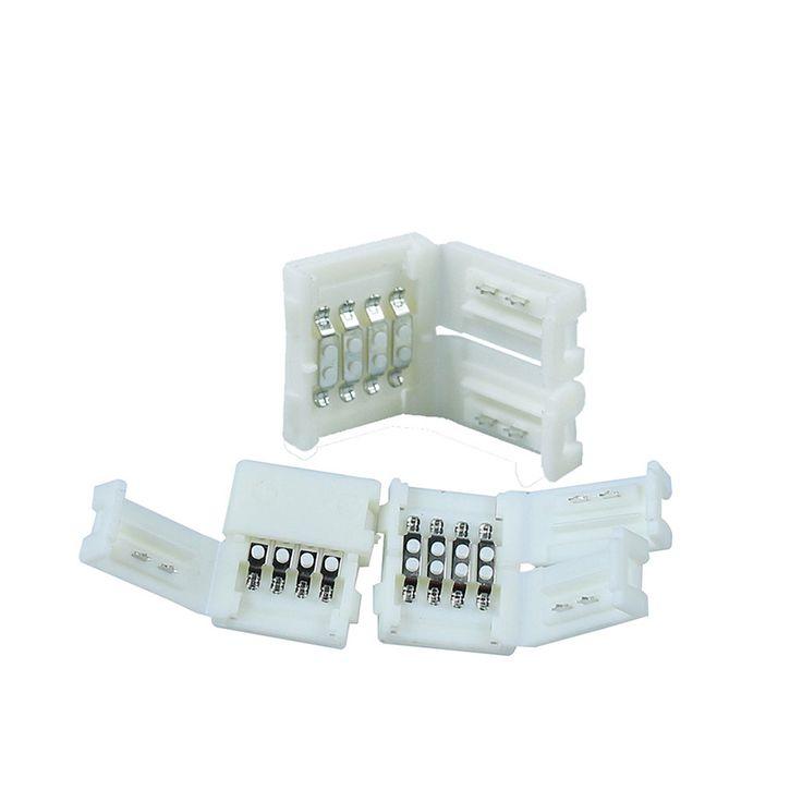 10 unids/lote sin soldadura 10mm 4pin conector PCB junta cable para 5050 rgb LED envío gratis