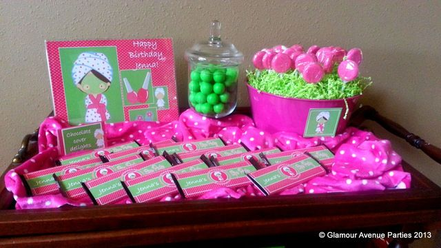 Pink and Green Spa Party #spa #party