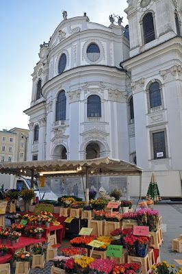 Food and flower market -- this market is actually much larger than it looks in this picture. It's SO charming, a must see in Salzburg (easy access through passageways if you're walking along the Getreidegasse)