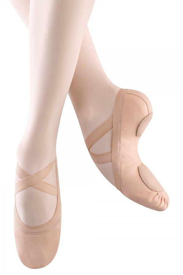 Bloch Synchrony Pink Split Sole Stretch Canvas Ballet Slipper.  These are amazing!!