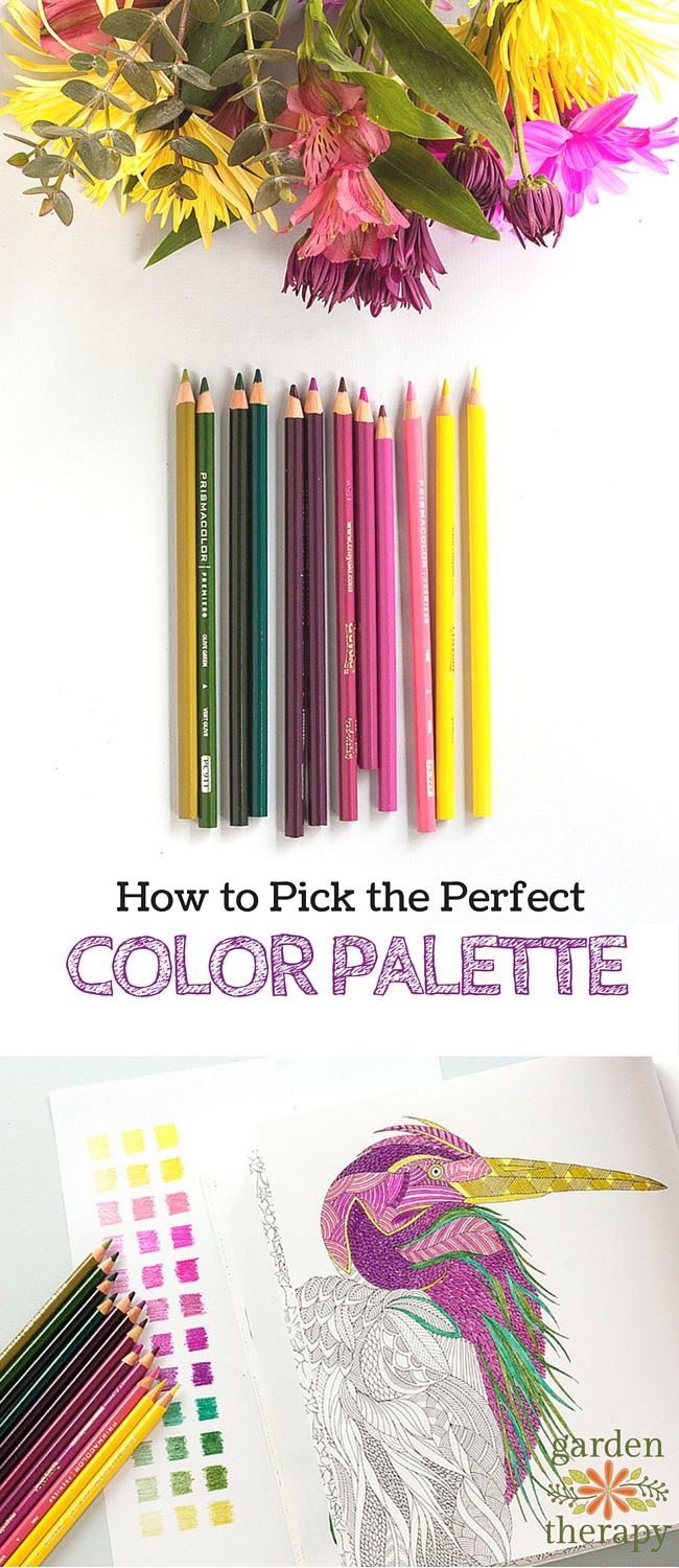 How to color like a pro - tips on choosing a color palette from a designer and artist. - Great information!!