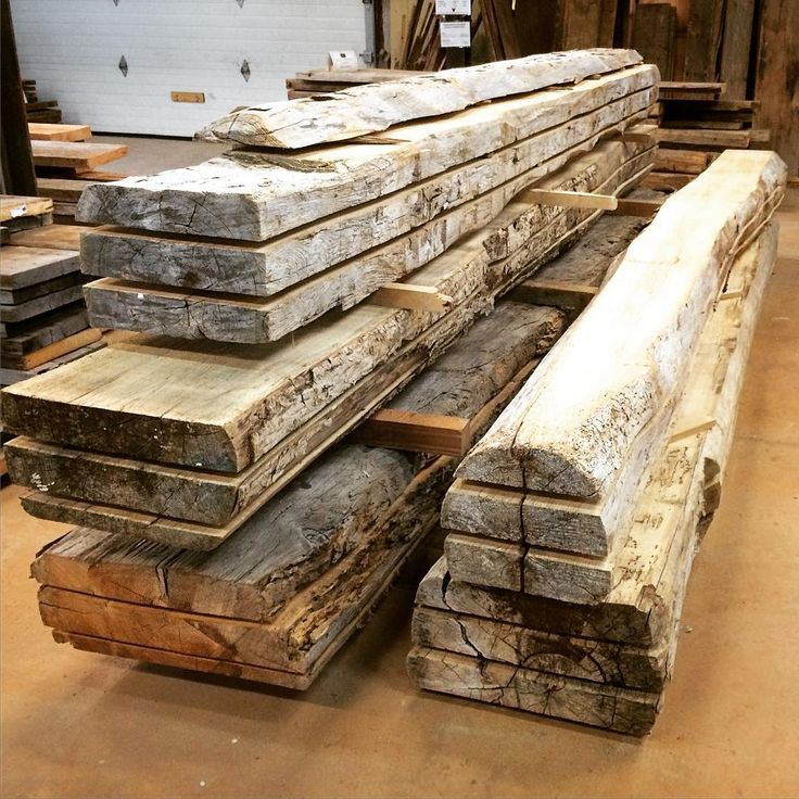 Our basement now features some huge resawn timbers. They're big and beautiful! #reclaimedwood #woodworking #reclaimed