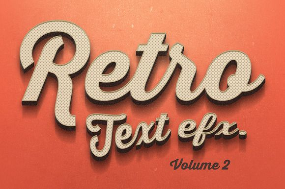 Check out Vintage Text Effects Vol.2 by Zeppelin Graphics on Creative Market
