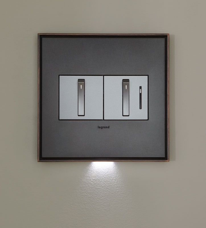 Adorne light switches from Lowe's