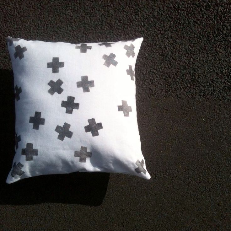 NEW!! My ➕one industrial 'tumbling confetti -plus' cushion in oxidised silver:   designed + individually hand-painted + handmade : 100% linen:  eco friendly water based metallic fabric paints:   Claire Webber, Hobart, Tasmania   For more info.   webberclaire1@gmail.com