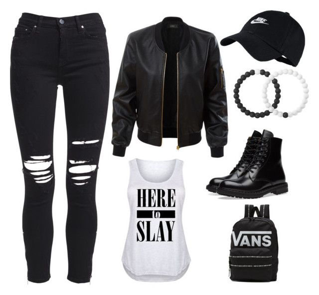 Edgy by talia-wright on Polyvore featuring polyvore, fashion, style, LE3NO, AMIRI, Alexander McQueen, Vans, Lokai, NIKE and clothing