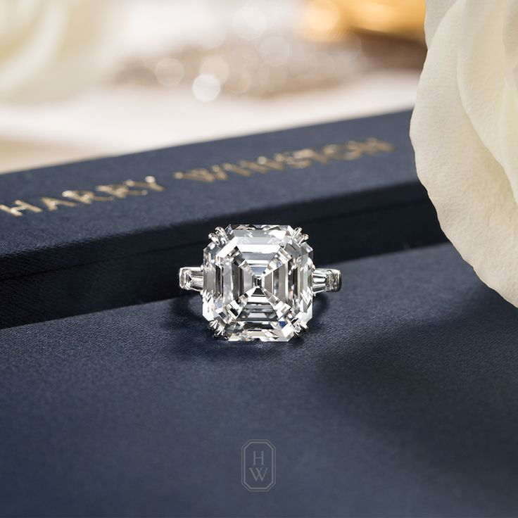 A Classic Winston Diamond Engagement Ring is the ultimate expression of timeless love. #HarryWinston #BrilliantlyInLove