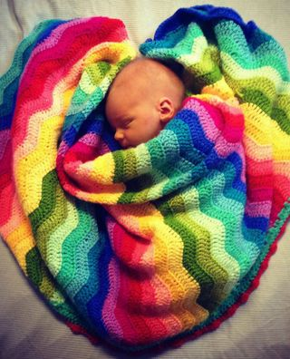 This gorgeous Rainbow Ripple Crochet Blanket is a FREE Pattern you will love to make. Check out the Bobble Stitch Rainbow Blanket FREE Crochet Pattern as well!