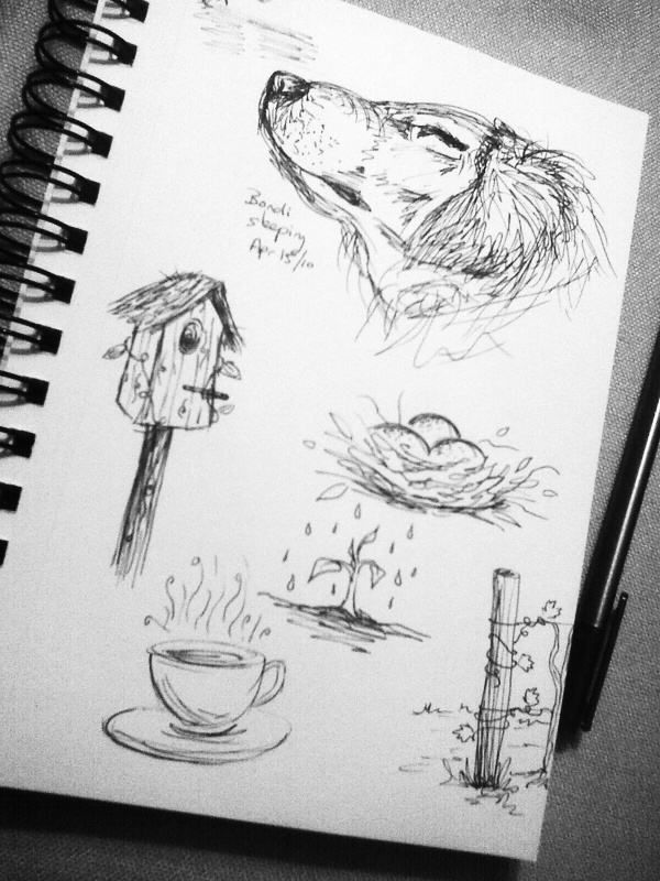 I love doodling... some of my doodles @annainkdesigns