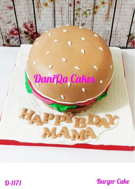 DaniQa Cake and Snack: Burger Cake