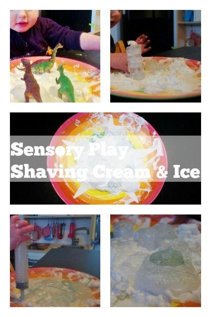 Winterse sensory play met scheerschuim, baking soda, azijn en ijs - Mamaliefde.nl: :