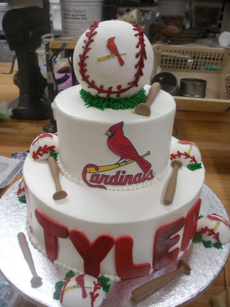 st louis cardinals cake | Birthday Cakes by Cakes by Karen- this pic serves as a good example for making a cake of any team/sport!