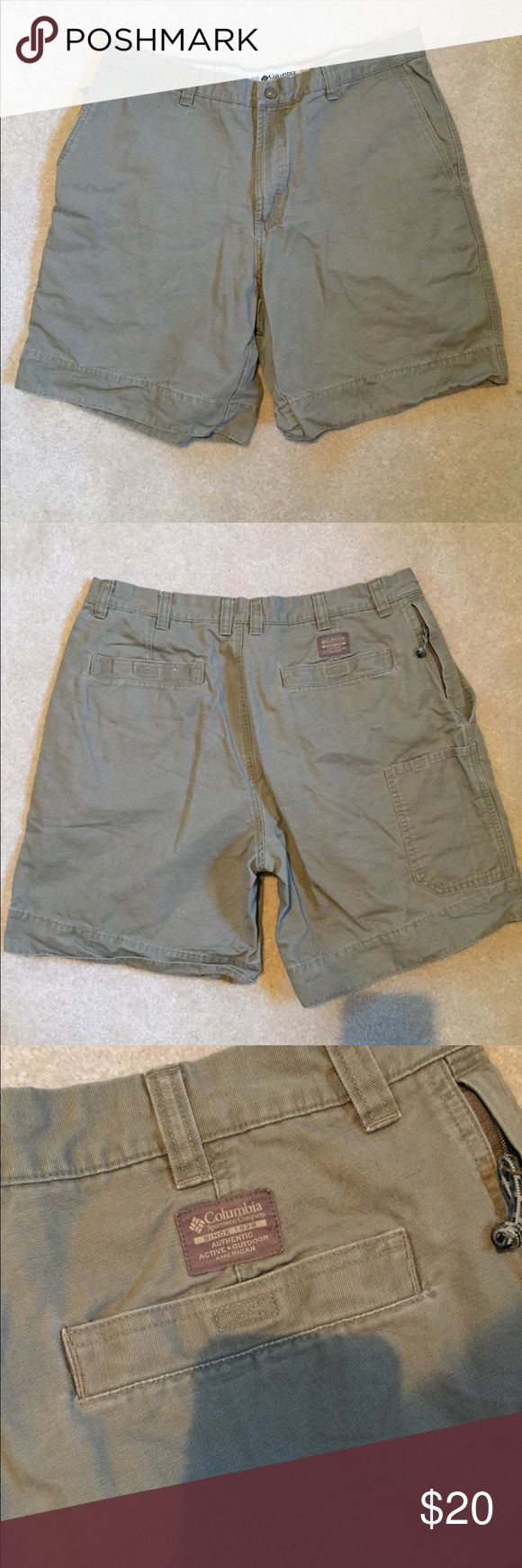New! Columbia Sportswear shorts! New Columbia Sportswear shorts! Laundered but never worn. Purchased for my husband but they were too small. Dark Khaki color. Columbia Shorts
