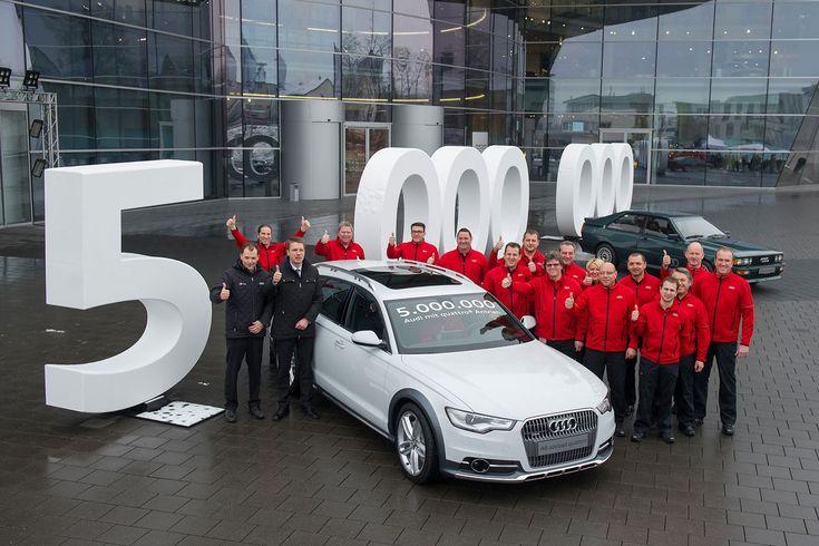 Vijf miljoen keer Audi Quattro