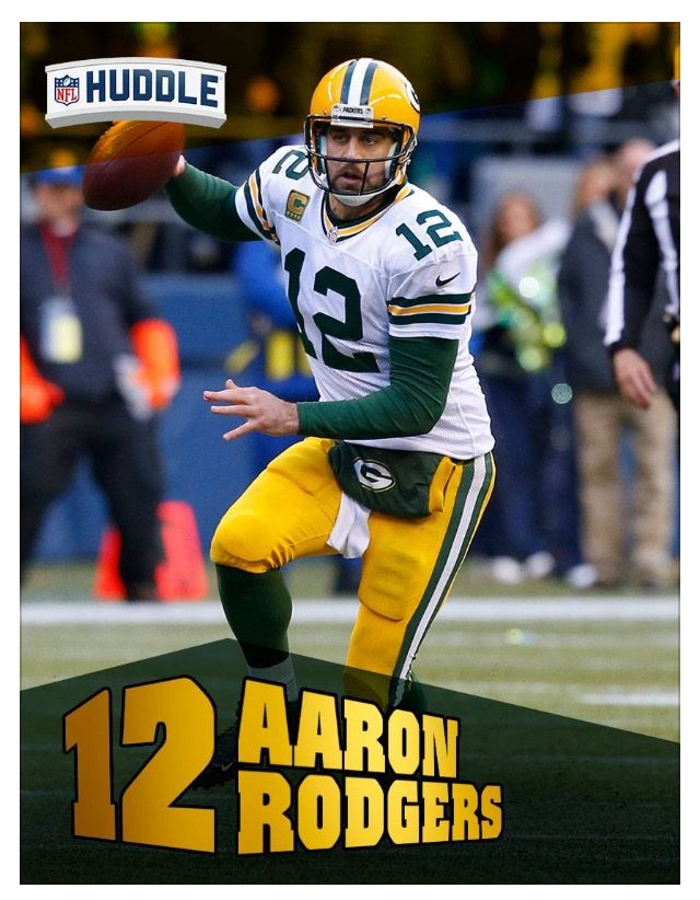 Arron Rodgers QB Green Bay Packers