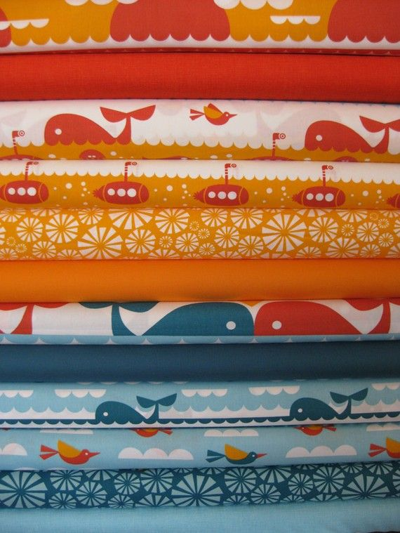 I love this fabric print series!  i really really want to make a quilt out of this!!!!!: Quilts Fabrics, Whales Watches, Quilts 101, Fabrics Online, Fabrics Quilts Sewing Buttons, Blue Whale, Yummy Fabrics, Chase Cotton, Fabrics Fabrics