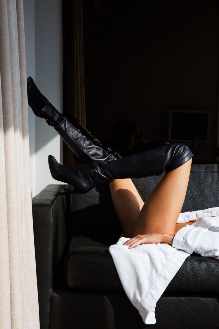 The picture is a bit more sexy than is actually necessary, but these over the knee black boots are cute!