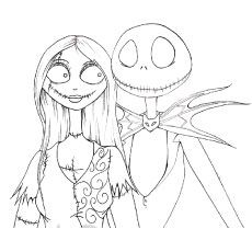 the disney coloring pages the nightmare before christmas - Disney Coloring Pages Online