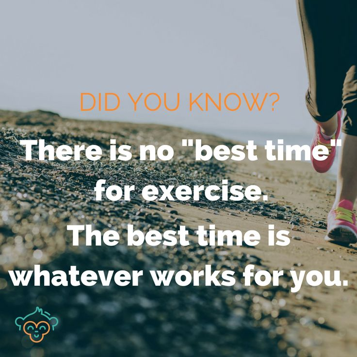 Morning. Afternoon. Night time... It doesn't matter when you work out, as long as you do. #healthylifestyle #exercise #fitness #workouts #healthfacts #didyouknow #didyouknowfacts #LifeBuddi #exercisetips