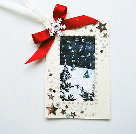 Winter Scene  Gift Tag 01