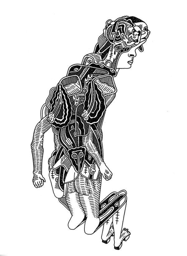 "Luke Ramsey Original Drawing - ""Bent Revision"" - Available as perk ($150)"